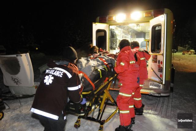 Une personne a subi de graves blessures, mais... (Photo Mariane L. St-Gelais, Le Quotidien)