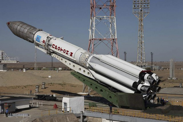Une fusée Proton-M.... (PHOTO ARCHIVES ASSOCIATED PRESS)