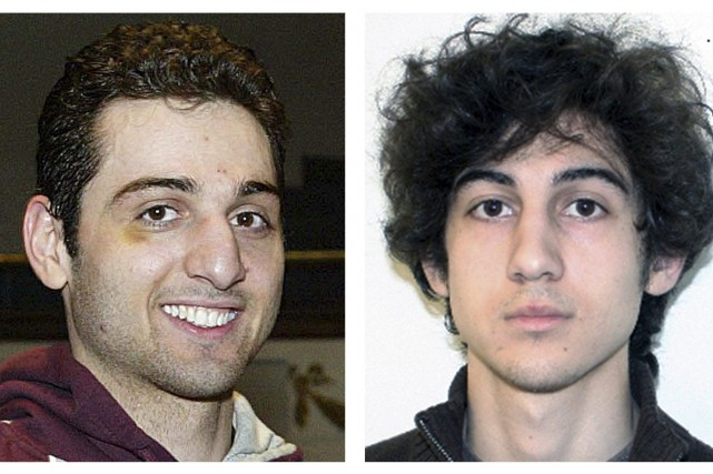 Tamerlan (à gauche) et Djokhar Tsarnaev.... (Photo Archives AP)