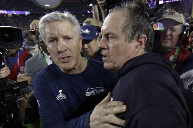 Une décision de Pete Carroll dont on parlera... (Photo Matt Slocum, Associated Press)