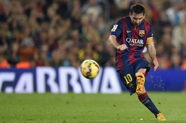 Lionel Messi... (Photo Lluis Gene, archives AFP)