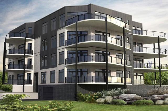 Le développement des condos VV, situés sur le boulevard Lionel-Groulx derrière... (Photo site internet Condos VV)