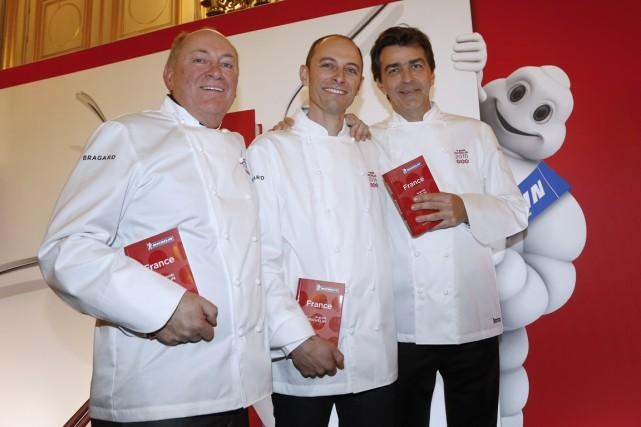 René et Maxime Meilleur du restaurant «La Bouitte»,... (PHOTO THOMAS SAMSON, AFP)
