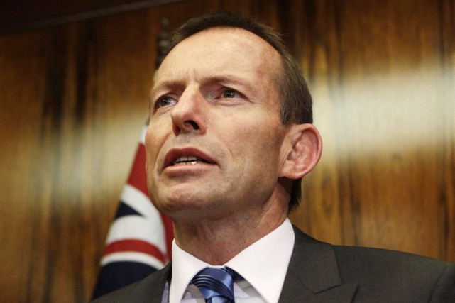 Le premier ministre australien Tony Abbott.... (PHOTO DANIEL MUNOZ, ARCHIVES REUTERS)