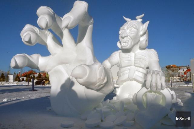 La sculpture baptisée Sous l'emprise de La Paume... (Le Soleil, Jean-Marie Villeneuve)