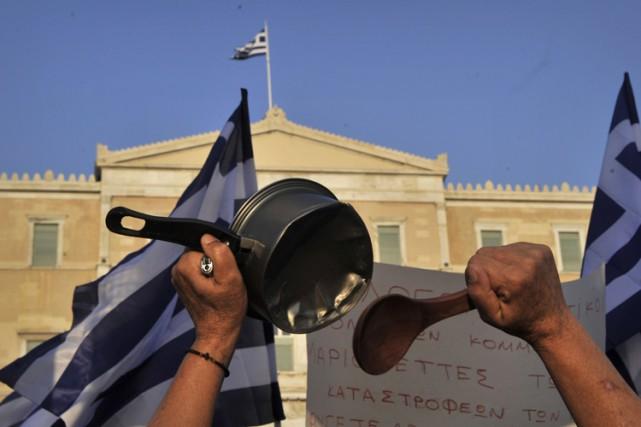 Une manifestation anti-austérité à Athènes en juin 2011.... (Archives AFP)