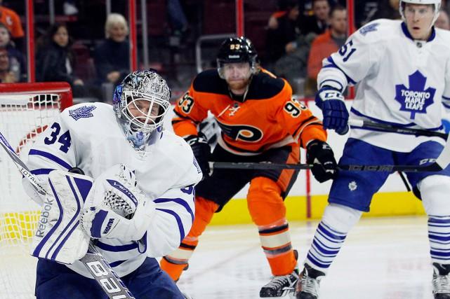 Jakub Voracek, des Flyers de Philadelphie, trône au... (AP, Tom Mihalek)