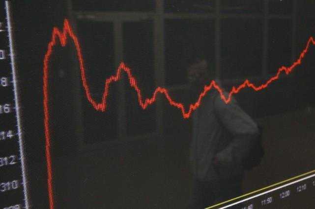L'indice général de la Bourse d'Athènes (Athex) s'envolait de plus de 6% en... (Photo archives Reuters)