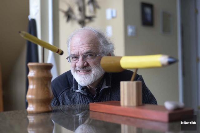 Depuis qu'il a pris sa retraite, Émile Savard... (Photo: Sylvain Mayer, Le Nouvelliste)