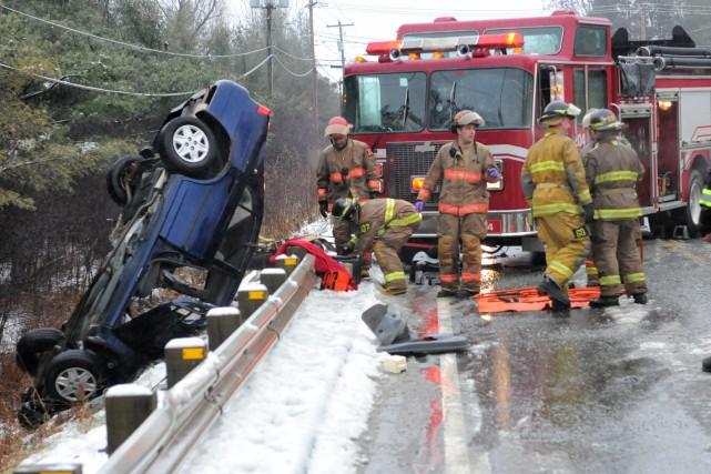 Le Service de protection contre les incendies de Sherbrooke (SPCIS) multiplie... (Archives La Tribune, Julien Chamberland)
