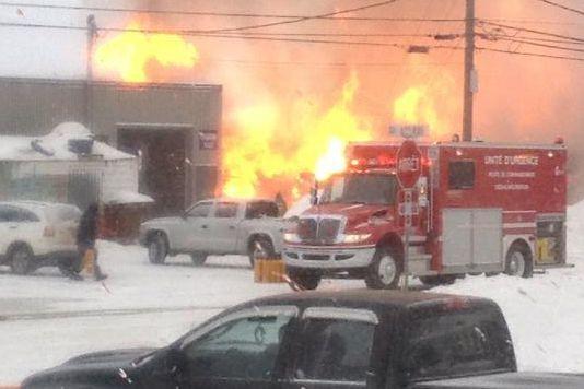 Un homme a subi des brûlures importantes, lundi en début d'après-midi, alors... (Photo fournie)