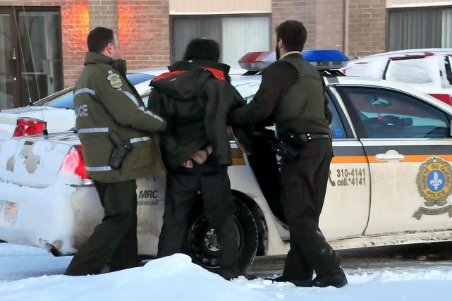 Un homme d'une trentaine d'années a été arrêté, tôt mardi matin, dans un... (Photo collaboration spéciale Éric Beaupré)