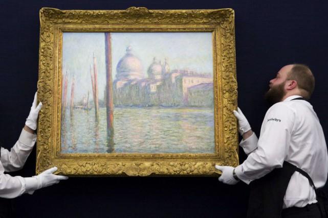 La toile était exposée depuis huit ans à... (PHOTO JUSTIN TALLIS, AFP)