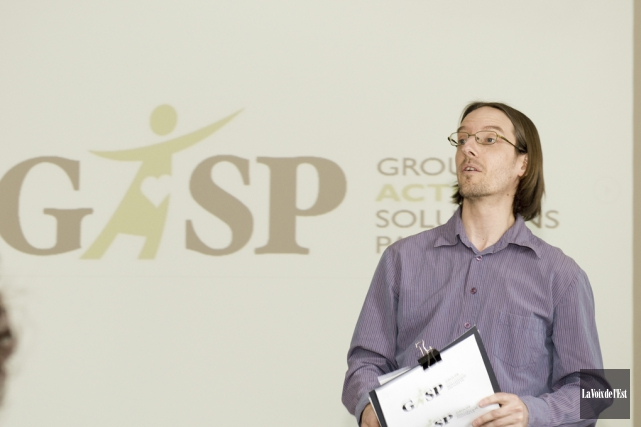 Le coordonnateur du GASP Haute-Yamaska, Nicolas Luppens... (photo archives La Voix de l'Est)