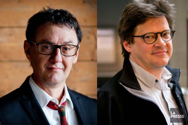 René Richard Cyr et Dominic Champagne... (Photos Marco Campanozzi et David Boily, La Presse)