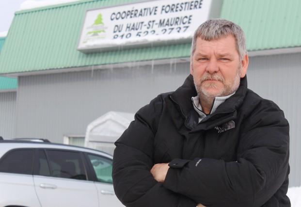 Claude Dupuis, directeur général de la Coopérative forestière... (Photo: Audrey Tremblay)