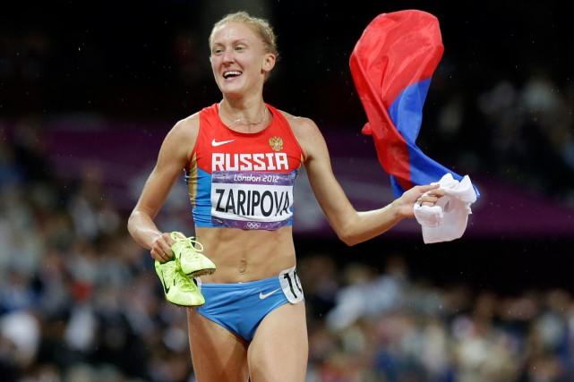 La RusseYulia Zaripova a remporté la médaille d'or... (Photo Anja Niedringhaus, archives AP)