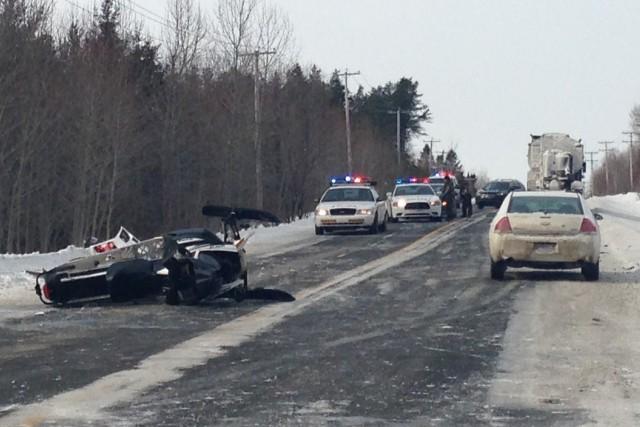 Un accident de la route aurait fait au moins une victime mercredi matin, à... (Laura Lévesque)