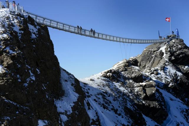 La station de ski Les Diablerets, lors de... (Photo: AP)