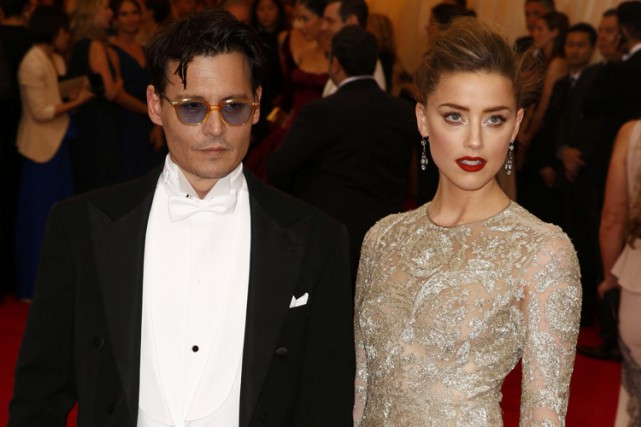 Johnny Depp et Amber Heard à New York... (Photo: Reuters)