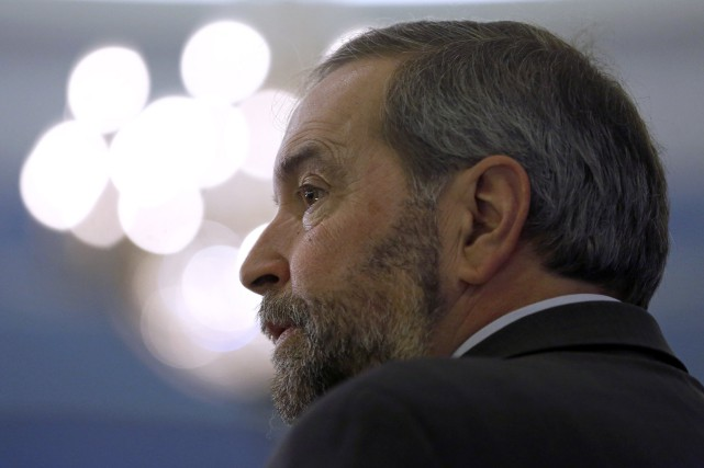 Le chef du NPD, Thomas Mulcair... (PHOTO CHRIS WATTIE, REUTERS)