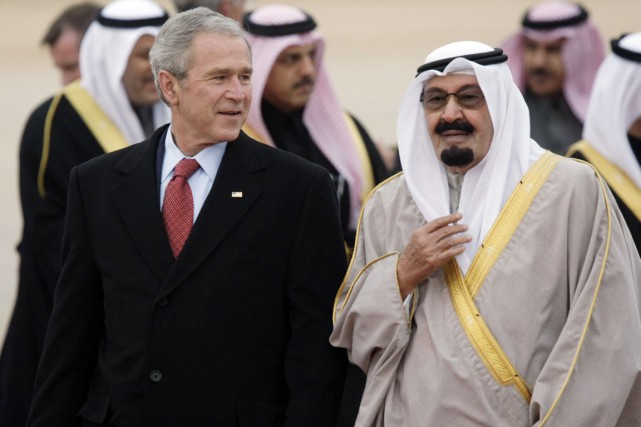 Le 43e président américain George W. Bush en... (PHOTO PABLO MARTINEZ MONSIVAIS, ARCHIVES AP)