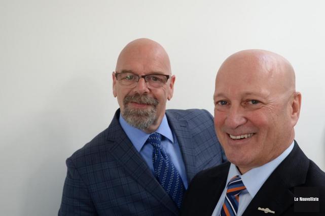 Donald Angers, directeur général par intérim et Hugues... (Photo: Sylvain Mayer, Le Nouvelliste)