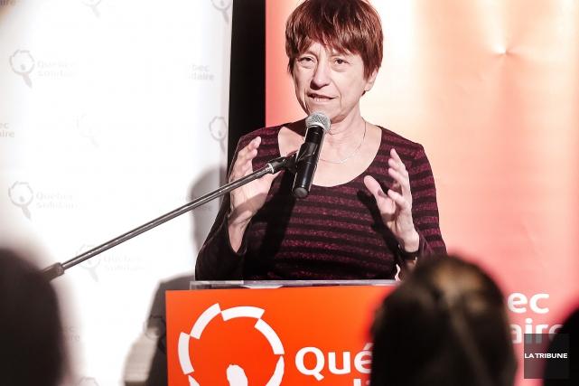 Françoise David... (Imacom, Jocelyn Riendeau)