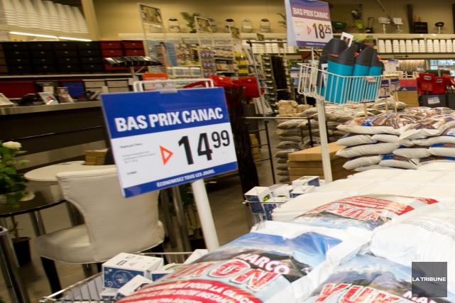 L'entreprise Canac a renoncé à acquérir des terrains situés à proximité de... (Archives La Tribune, Jessica Garneau)