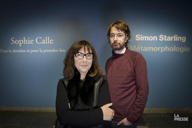 Les oeuvres des artistes Sophie Calle et Simon... (PHOTO IVANOH DEMERS, LA PRESSE)