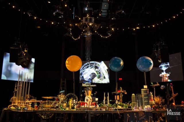 Les quelque 30 machines musicales seront disposées sur... (PHOTO OLIVIER PONTBRIAND, LA PRESSE)