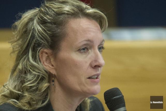 Marie-Line St-Arnaud, directrice générale de la MRC de... (Photo: Stéphane Lessard, Le Nouvelliste)