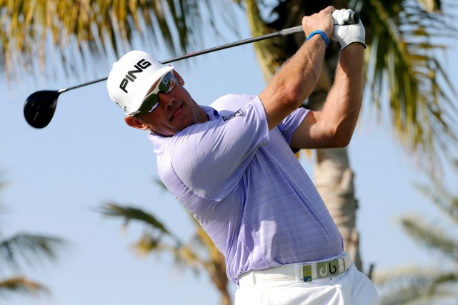 Lee Westwood... (Photo Fadi Al-Assaad, Reuters)