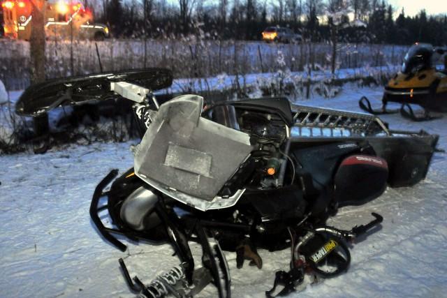 L'accident a eu lieu le 22 janvier dernier... (Photo collaboration spéciale Éric Beaupré)