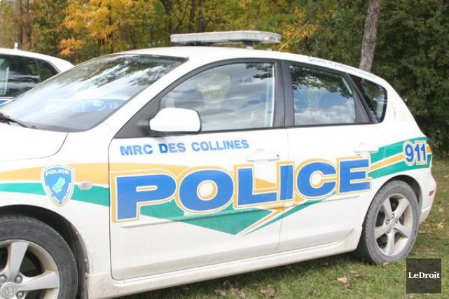 Scène étrange pour les policiers de la Sécurité publique de la MRC des... (Archives, LeDroit)