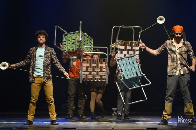 Le spectacle Attrape-moi du collectif de Québec Flip... (PHOTO BERNARD BRAULT, ARCHIVES LA PRESSE)