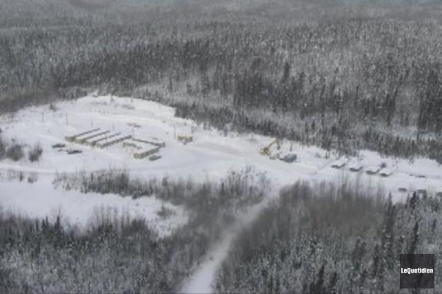 L'exploitation de la mine d'apatite du lac à... ((Archives Le Quotidien))
