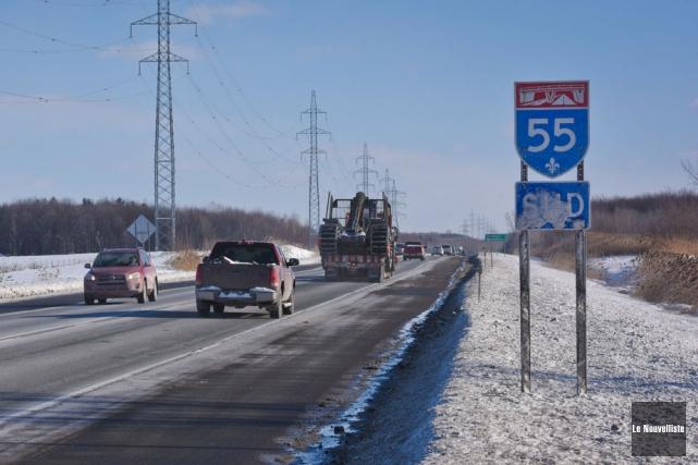 Le doublement de l'autoroute 55 est réclamé pour... (Photo: François Gervais, Le Nouvelliste)