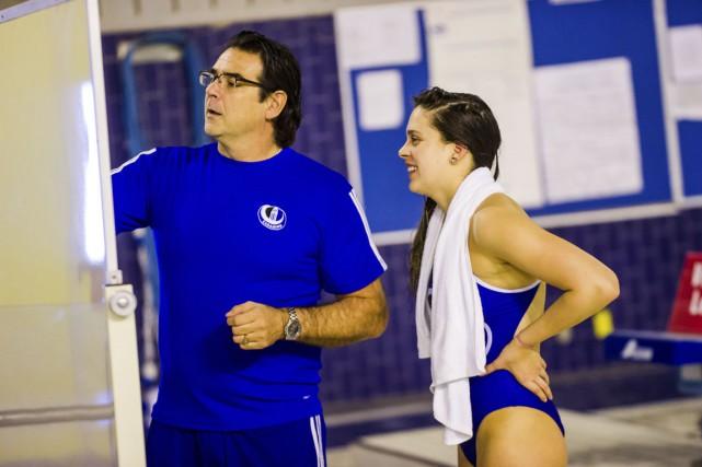 L'entraîneur de l'équipe de natation des Carabins, Pierre... (PHOTO JAMES HAJJAR, FOURNIE PAR L'UNIVERSITÉ DE MONTRÉAL)