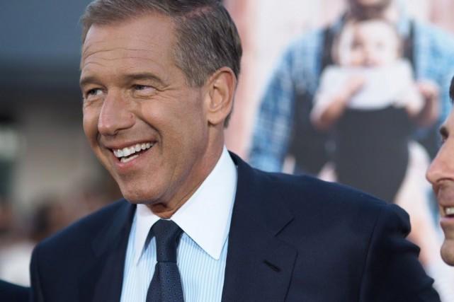 Chez Letterman, Brian Williams avait affirmé qu'il était... (PHOTO ROBYN BECK, AFP)