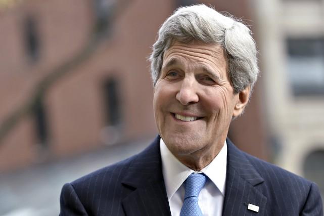 Le secrétaire d'État des États-Unis, John Kerry... (Photo Gretchen Ertl, Reuters)