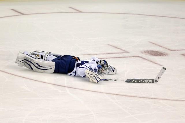 James Reimer a connu une dure soirée de... (Photo Julio Cortez, AP)
