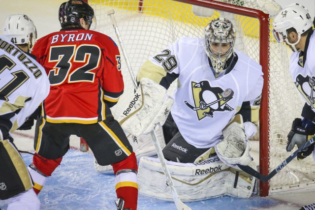 Marc-André Fleury a mérité son huitième blanchissage de... (PHOTO SERGEI BELSKI, USA TODAY)