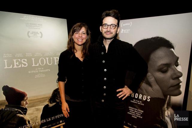 Les cinéastes Sophie Deraspe et François Delisle.... (PHOTO ALAIN ROBERGE, LA PRESSE)