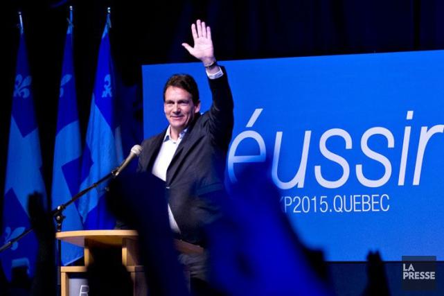 Le candidat à la direction du Parti québécois... (Olivier Jean, Archives La Presse)
