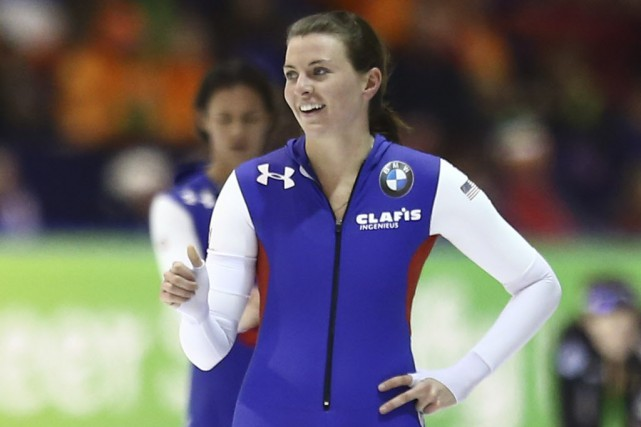 Heather Richardson a fini le 500 m en 37,82... (Photo Peter Dejong, AP)