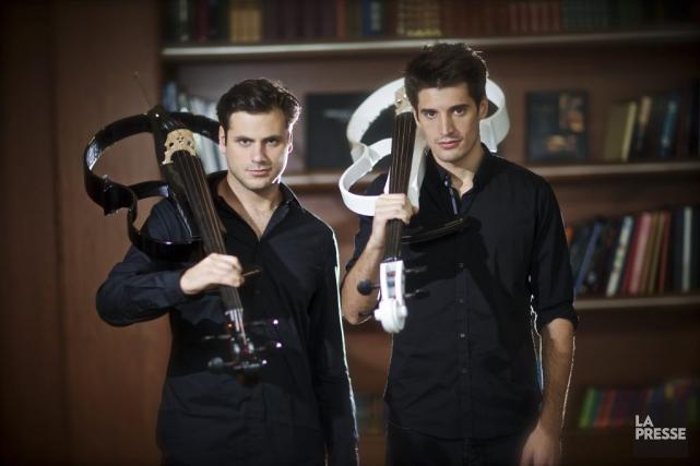 Stjepan Hauser etLuka Sulic, deux violoncellistes que la... (Photo Andre Pichette, La Presse)
