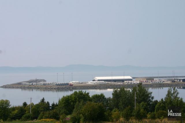 Le projet prévoit la construction d'un port en... (Collaboration spéciale Carl Thériault)