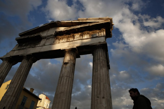 La Grèce va donc jouer son va-tout mercredi... (Photo Petros Giannakouris, AP)