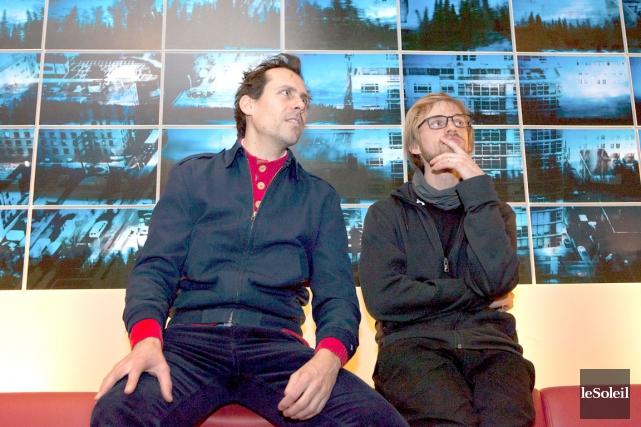 Alexandre Berthier (à gauche) a travaillé à partir... (Photo Le Soleil, Caroline Grégoire)